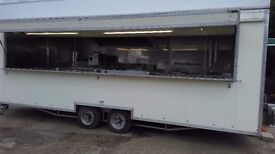 mobile kitchen 24ft. long , twin axle .