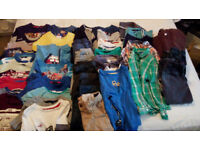 4-5 Years Boys x41 Items Clothing Bundle Tops, Trousers, Shorts, Jackets, Coat. George, Next F+F