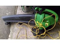 electric leaf collector vacuum blower power garden tidy leaves