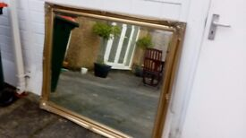 Gold Antique Style Ornate Big Large Wall Mirror 129cm x 106cm