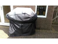 Large heavy duty BBQ cover with ties