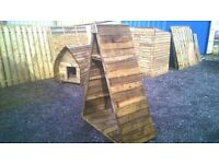PINNACLE LOG STORE PRESSURE TREATED TANALISED TIMBER USED