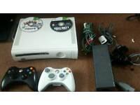 Xbox 360 + 2 controls + games