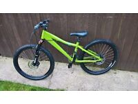 like new Kona Shred suspension disc brake mountain bike downhill jump cycle