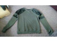 New Look green jumper size 8