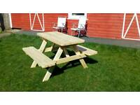 4 ft treated new picnic table for sale.