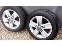 Vw transporter wheels 17 inch Davenport x 4 set borbet wheels / tyres