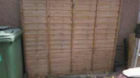 Brand new 6*6 larch lap fence panel