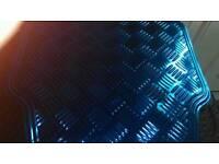 Blue car mats
