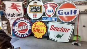 Old Skool Petrol and Automobile Service Signs
