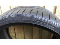 Bridgestone runflat tyres 255/30/19 nearly new