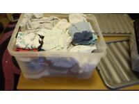 Large bundle of baby boy's clothes, age 0-3 months