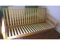 Pine Sofa Bed/ Futon + Mattress £60 ONO
