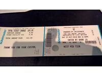 U2 Ticket Belfast SSE Oct 27th Sat Night West Mid Tier