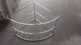 Large chrome shower caddy