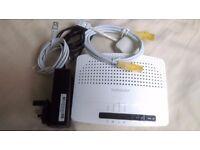 Technicolor TG582n Wireless 802.11n N ADSL Router Modem WiFi £5
