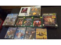 Mixed lot Star Wars Games Xbox Ps2 PC