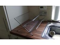 Dish drying rack, high quality, x shape fold out