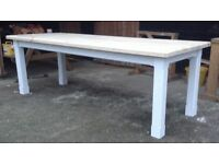 Huge new solid pine dining table 8ftx3ft handmade bench chairs chunky rustic shabby chic farmhouse