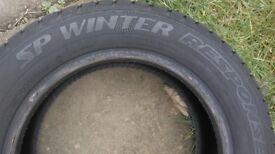 SP Winter Response tyres x 4