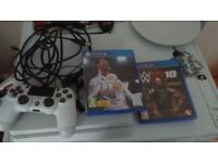 Playstation 4 slim white 500gb with games