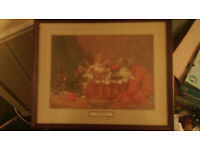 A mischievous basketful by daniel merlin painting 1861 1933 (good condition) (offer)