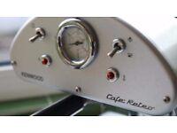 Kenwood Cafe Retro Coffee machine silver 3 Cups Coffee Maker ES547- 15 bars pressure
