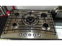 Neff 5 Burner stainless steel gas hob