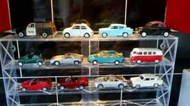 Die cast classic and modern cars