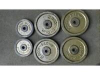 50kg cast iron weights.