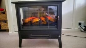 Electric Log Burner Fire Place