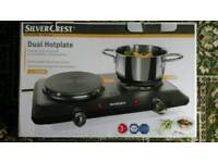 Double electric hotplate