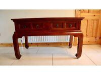 Solid Mahogany Sofa Table