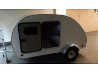 Nearly new teardrop caravan with accessories