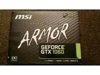 MSI Armor Nvidia GTX 1060 3gb OC Video Graphics Card GPU