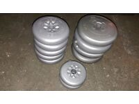 11 x York Weight Plates / Barbell Wesights / Dumbbell Weights (4 x 4KG / 5 x 2.5KG / 2 x 1.25KG)