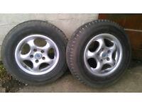2x bailey caravan wheels and alloys, as new