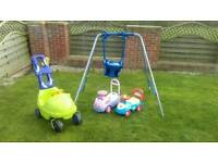 Swing and garden toys