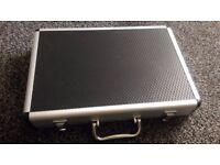 storage metal aluminium light weight case folder office home meeting holiday flight car