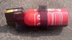 MOBILE CAR FIRE EXTINGUISHER WITH HOLDING STRAP CAR ACCESSORIES ideal for home car garage small 30cm