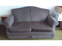 2 seater sofa with black and white print fabric for sale in Brixton - COLLECTION ONLY