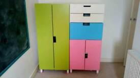 Ikea Stuva wardrobe and draws