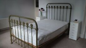 Beautiful antique Victorian iron bed frame - original not replica. circa 1900's