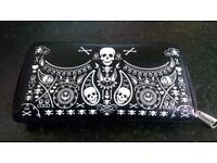 Loungefly purse with skull design
