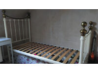 Quality Metal and Slatted Base Single Bed Frame