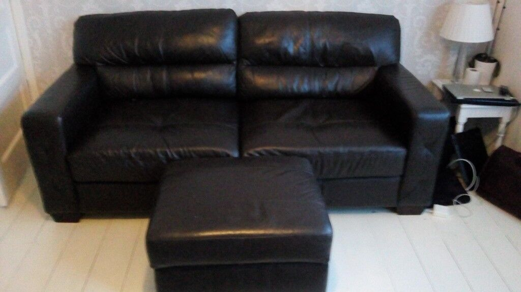 Brown DFS leather sofas | in Clevedon, Somerset | Gumtree