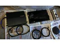 Amplifier Vibe speakers x2 1200w x2 lots Vibe