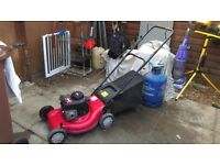 Petrol lawnmower,briggs and stratton MTD