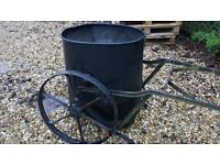 Antique iron water carrier
