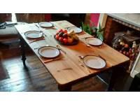 Vintage antique pine dinning table
